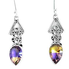 925 sterling silver multi color ametrine (lab) dangle earrings jewelry d30124