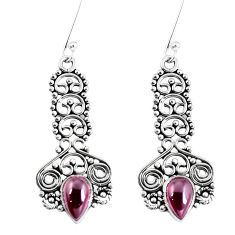 Clearance Sale- Natural red garnet 925 sterling silver dangle earrings jewelry d30151