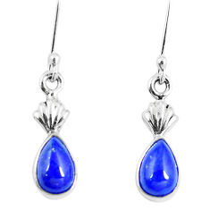 Clearance Sale- 925 sterling silver natural blue lapis lazuli dangle earrings jewelry d30164