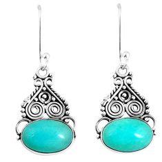 925 silver natural green peruvian amazonite dangle earrings jewelry d30195