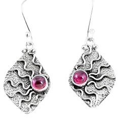 Natural pink tourmaline 925 sterling silver dangle earrings jewelry d30211