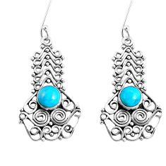 925 sterling silver blue arizona mohave turquoise dangle earrings d30264