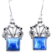 Natural blue kyanite 925 sterling silver dangle earrings jewelry d30298