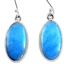 925 sterling silver natural blue angelite dangle earrings jewelry d30898