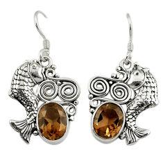 Clearance Sale- z 925 sterling silver fish earrings jewelry d3103
