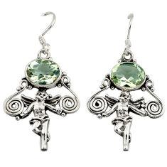 ver natural green amethyst cupid angel wings earrings d3108
