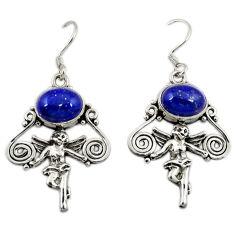 Clearance Sale-  lapis lazuli cupid angel wings earrings d3113