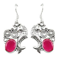 Clearance Sale- ver fish charm earrings jewelry d3202