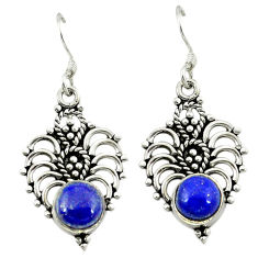 Clearance Sale- Natural blue lapis lazuli 925 sterling silver dangle earrings jewelry d3289