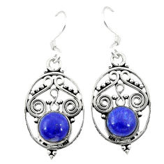 Clearance Sale- Natural blue lapis lazuli 925 sterling silver dangle earrings jewelry d3291