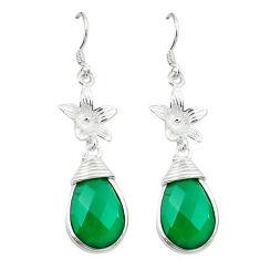 Clearance Sale- rling silver flower earrings jewelry d3396