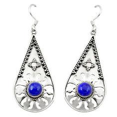 Clearance Sale- is lazuli 925 sterling silver dangle earrings jewelry d3442