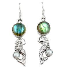 Clearance Sale- 25 sterling silver fish earrings jewelry d3481