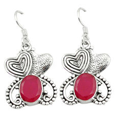 Clearance Sale- ver couple hearts earrings jewelry d4579