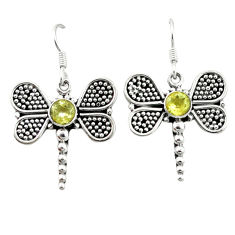 Clearance Sale- ethyst 925 sterling silver dragonfly earrings d4590