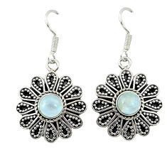 Clearance Sale- moonstone 925 sterling silver dangle earrings jewelry d4651