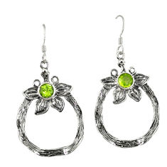Clearance Sale- ng silver flower earrings jewelry d4723