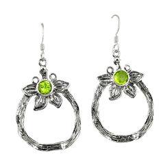 Clearance Sale- n peridot flower earrings jewelry d4725
