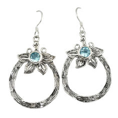 Clearance Sale- az round 925 sterling silver flower earrings jewelry d4730