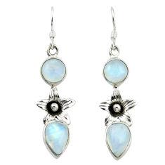 ver natural rainbow moonstone flower earrings jewelry d4737