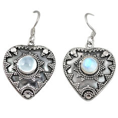 Clearance Sale- Natural rainbow moonstone 925 sterling silver dangle earrings jewelry d4803