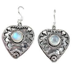 Clearance Sale- bow moonstone dangle earrings jewelry d4815