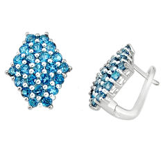 Clearance Sale- Natural london blue topaz 925 sterling silver stud earrings jewelry d5528