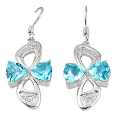 Clearance Sale- Natural blue topaz 925 sterling silver dangle earrings jewelry d5569