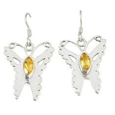 Clearance Sale- ow citrine butterfly earrings jewelry d6507