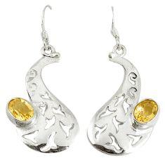 Clearance Sale- itrine 925 sterling silver dangle earrings jewelry d6532