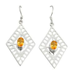 Clearance Sale- itrine 925 sterling silver dangle earrings jewelry d6553