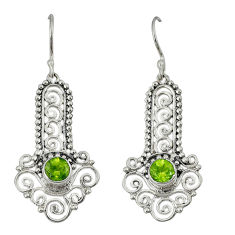 Clearance Sale- n peridot dangle earrings jewelry d6611