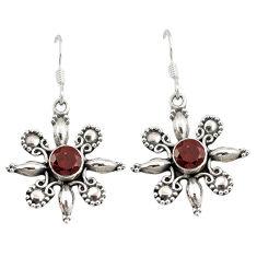 Clearance Sale- rnet 925 sterling silver dangle earrings jewelry d6651