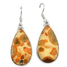 925 sterling silver natural red birds eye dangle earrings jewelry d6755