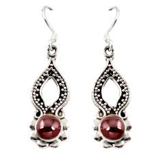 Clearance Sale- ver natural red garnet dangle earrings jewelry d6835