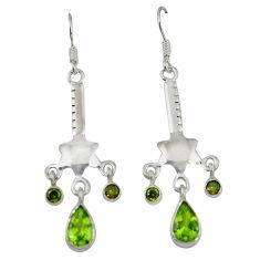 Clearance Sale- ridot 925 sterling silver dangle earrings jewelry d6870