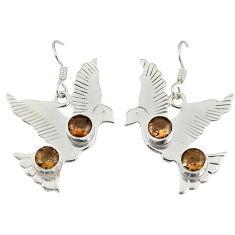 Clearance Sale- topaz dangle earrings jewelry d6924