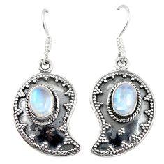 Clearance Sale- moonstone 925 sterling silver dangle earrings jewelry d6962