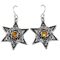 Clearance Sale- Brown smoky topaz 925 sterling silver dangle earrings jewelry d7047