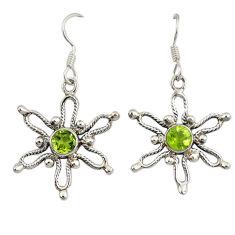 Clearance Sale- ridot 925 sterling silver dangle earrings jewelry d7048