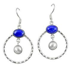 Clearance Sale- pearl 925 silver dangle earrings jewelry d7176