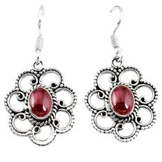 Clearance Sale- Natural red garnet 925 sterling silver dangle earrings jewelry d7209