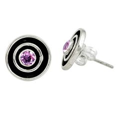 Clearance Sale- b) round 925 sterling silver stud earrings jewelry d9326