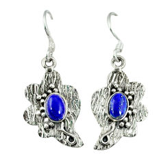 Clearance Sale- is lazuli 925 sterling silver earrings jewelry d9543