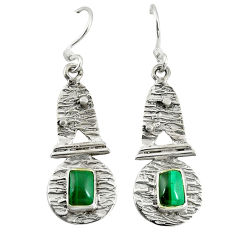 Clearance Sale- 925 silver natural green malachite (pilot's stone) earrings jewelry d9585