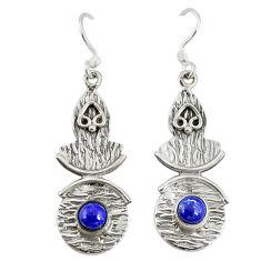 is lazuli 925 sterling silver dangle earrings jewelry d9603