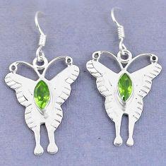 Clearance Sale- ridot 925 sterling silver butterfly earrings d9722