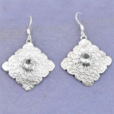 Clearance Sale- silver dangle earrings jewelry d9758