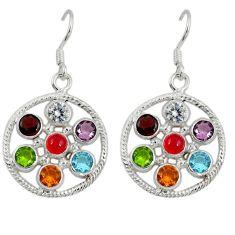 925 silver natural orange cornelian (carnelian) topaz chakra earrings d9951