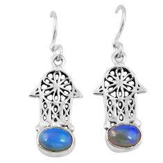 l 925 silver hand of god hamsa earrings d9960